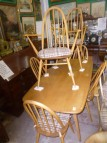 ERCOL TABLE & 6 CHAIRS