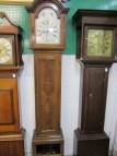 EDWARDIAN 8 DAY LONGCASE CLOCK & WEIGHTS